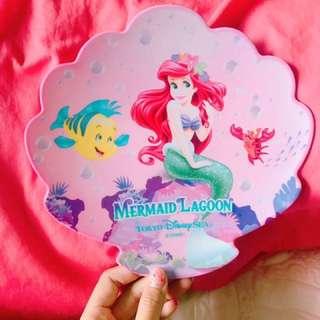 🚚 🎀東京迪士尼樂園 小美人魚 貝殼 盤子