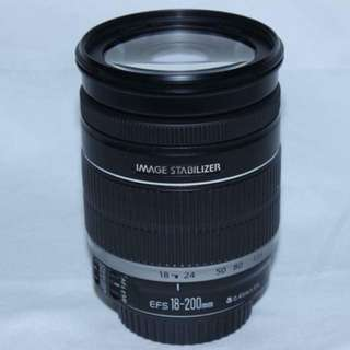 Canon Zoom Lens EF-S 18-200mm f/3.5-5.6 IS