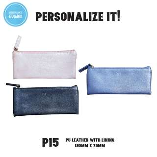Minimalist design - PU Leather Pencil Case, card holder and thumbdrive