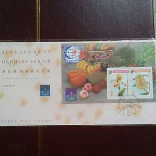 First Day Cover Orchid with No 1 Chop
