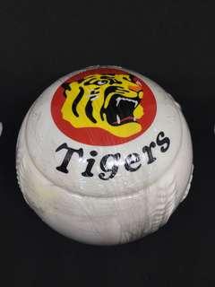 Vintage Japan Hanshin Tiger Baseball Glass Ceramic Box