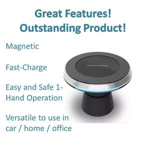 Car MagneticHandphone Mobile Holder Dock Wireless Charger