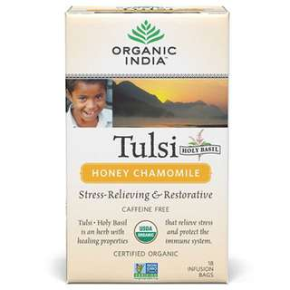 羅勒茶 蜂蜜洋甘菊 Organic Tulsi Honey Chamomile 18 Tea Bags - Organic India