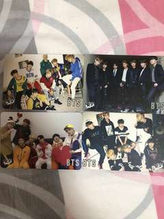 (包郵)4張 BTS yes card