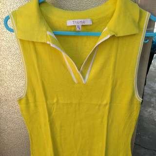 Lemon yellow sleeveless top