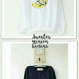 Sweater Miniond Banana TERMURAH