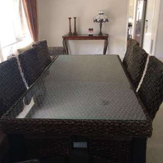 Alfresco Dining table & 6 chairs