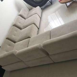 Sofa 7 set bahan bludru halus busa tebal masih Mulus
