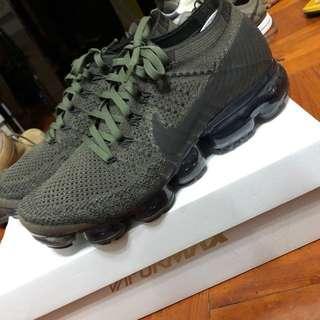 Nike air vapormax flyknit us8.5 uk7.5 26.5cm green cargo khaki olive green