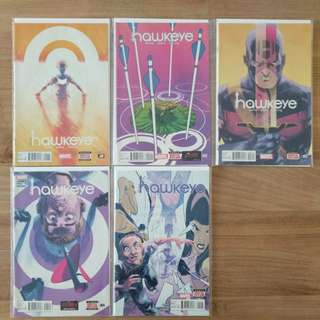 Marvel Comics All New Hawkeye #1--5