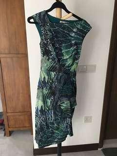 Karen Millen Green Printed dress