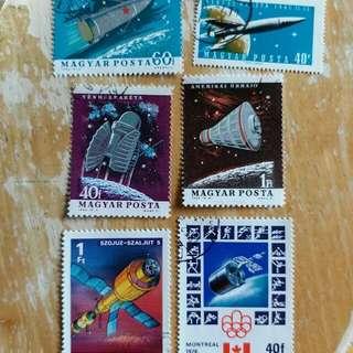 匈牙利郵票太空已銷郵票6枚