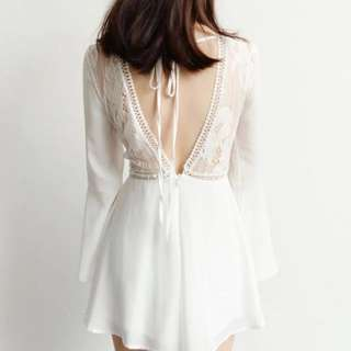 Crotchet white romper (brand new)