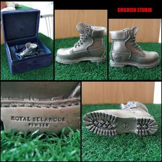 Vintage & rare Selangor Royal Pewter x Timberland YELLOW BOOT Shoe Sculpt