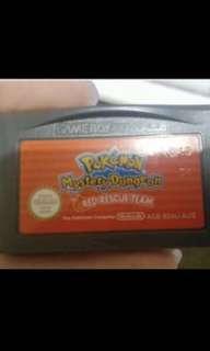 Authentic Pokemon Mystery Dungeon cartridge