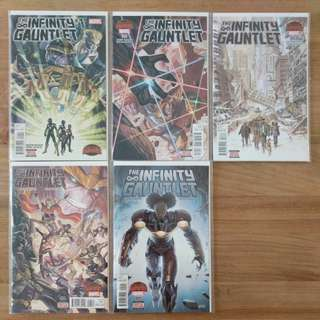 Marvel comics The infinity Gauntlet #1-5
