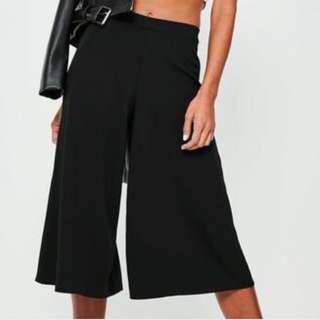 Black Culottes size 8