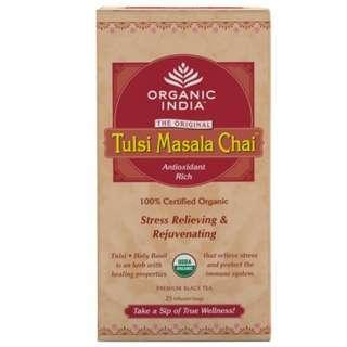 Tulsi Masala Chai- 25 Tea Bags - Organic India