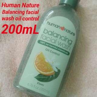 Human Nature Balancing facial wash oil control