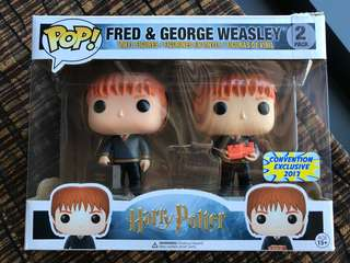 Exclusive Harry Potter Fred & George Weasley Funko POP