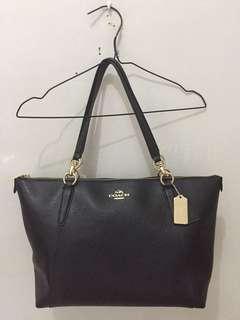 Coach Crossgrain Leather Ava Tote Bag Original Color Black