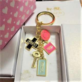 Instock! Coach Key Lock Cross Gold Key Ring Keychain Bag Charm ASC3267 + FREE Post