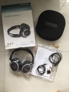 Active Noise Cancel Headphones (Audio-Technica) with Complete Accessories