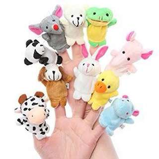 animal finger 10pcs