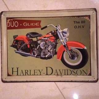 Vintage Rusty Style tin sign..