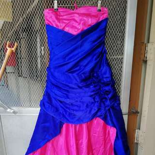 FOR RENT! Long back gown