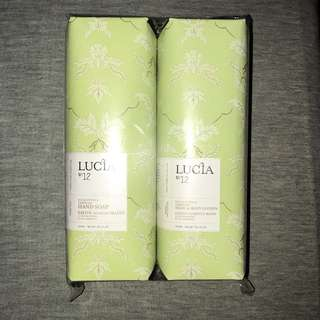 Lucia no12 hand soap and hand and body lotion duo