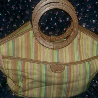 Fossil canvas stripe bag