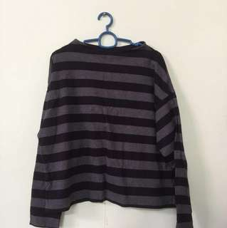 SALE Uniqlo Stripe T Shirt ( Black )