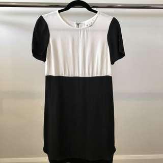 Witchery Black and White Mini-Dress