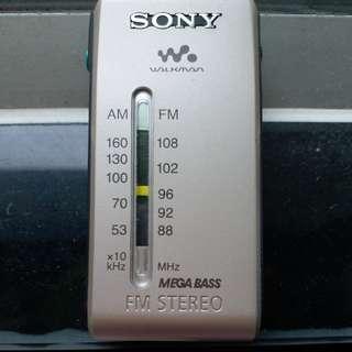 Dse收音機 sony walkman