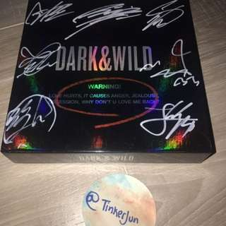 BTS ALL MEMBER SIGNED DARK & WILD ALBUM AUTHENTIC