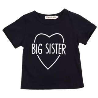 🦁Instock - big sister shirt, baby infant toddler girl children glad cute 12345