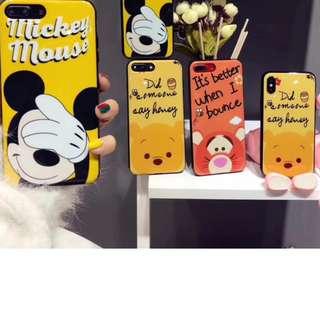 手機殼Iphone6/7/8/plus/X : 卡通維尼熊米奇跳跳虎