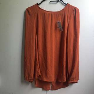 ~BNWT~ Sportsgirl Zip Back Top in Ginger [#57]