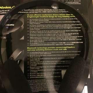 Philips On-ear bluetooth headphones