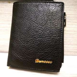 韓國Denooss時尚型格多用途黑色真皮銀包 Korea's Denooss Fashion Multi-Purpose Black Leather Wallet
