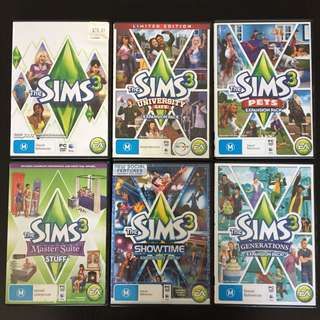 The Sims 3 + Expansion Packs PC / Mac