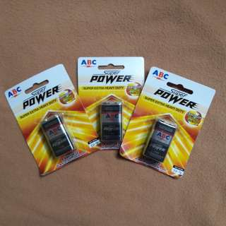 Baterai abc super power 9volt