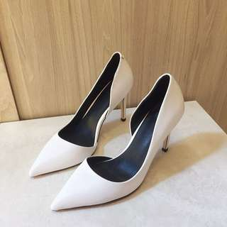 White Pointed Heels/ Pumps