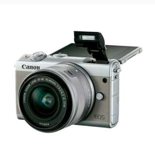 Canon EOS m100 kit 15-45mm tanpa kartu kredit