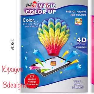 4D colouring ,interactive colouring books