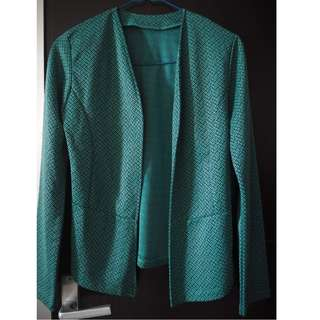 Green Pattern Blazer