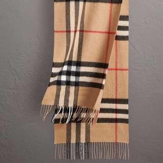 Burberry Classic Check Scarf - Camel Colour