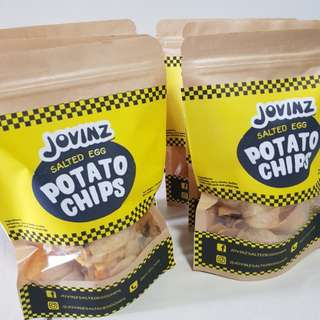 Jovinz Salted Egg Potato Chips