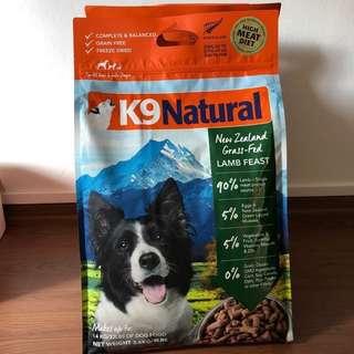 K9 Natural raw freeze dried Lamb